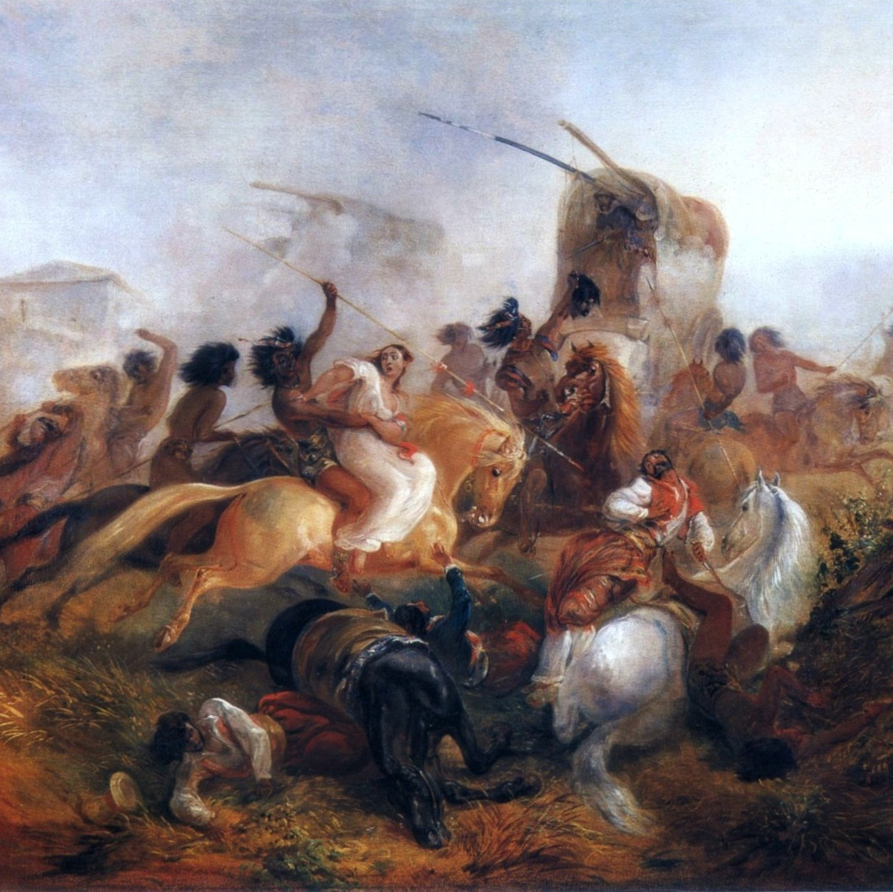 Argentine_soldiers_under_Indian_attack_by_Rugendas